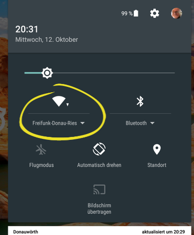 Freifunk Donau-Ries unter Android
